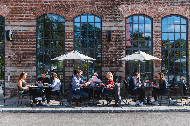 Kafe Hollenderiet på Klosteroya Næeringspark