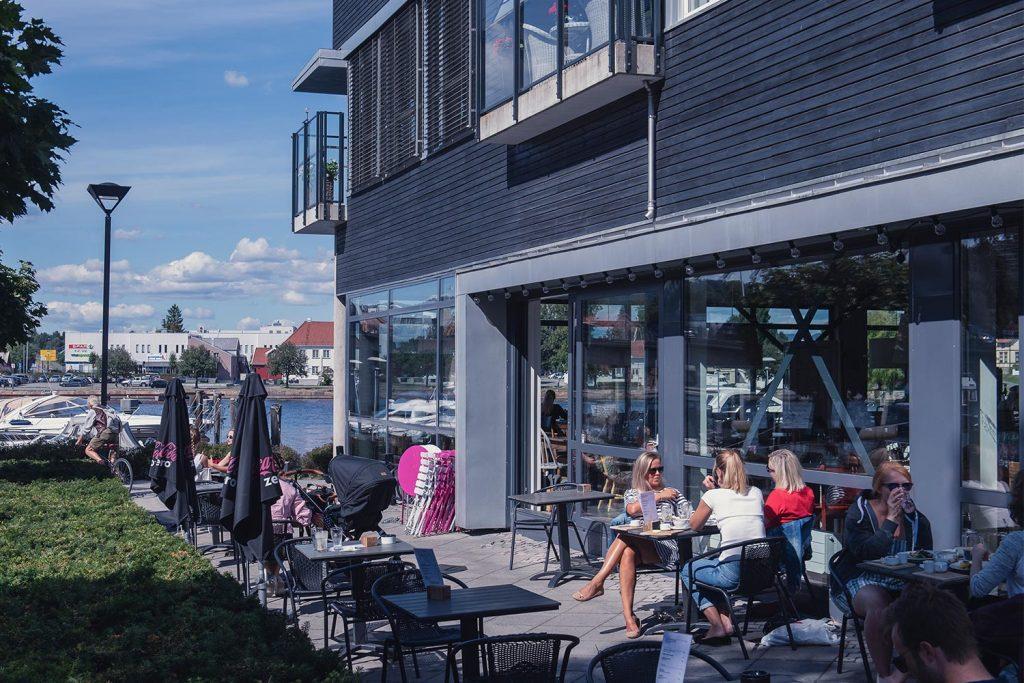 Elvebredden Kafe på Bratsberg Brygge i Porsgrunn