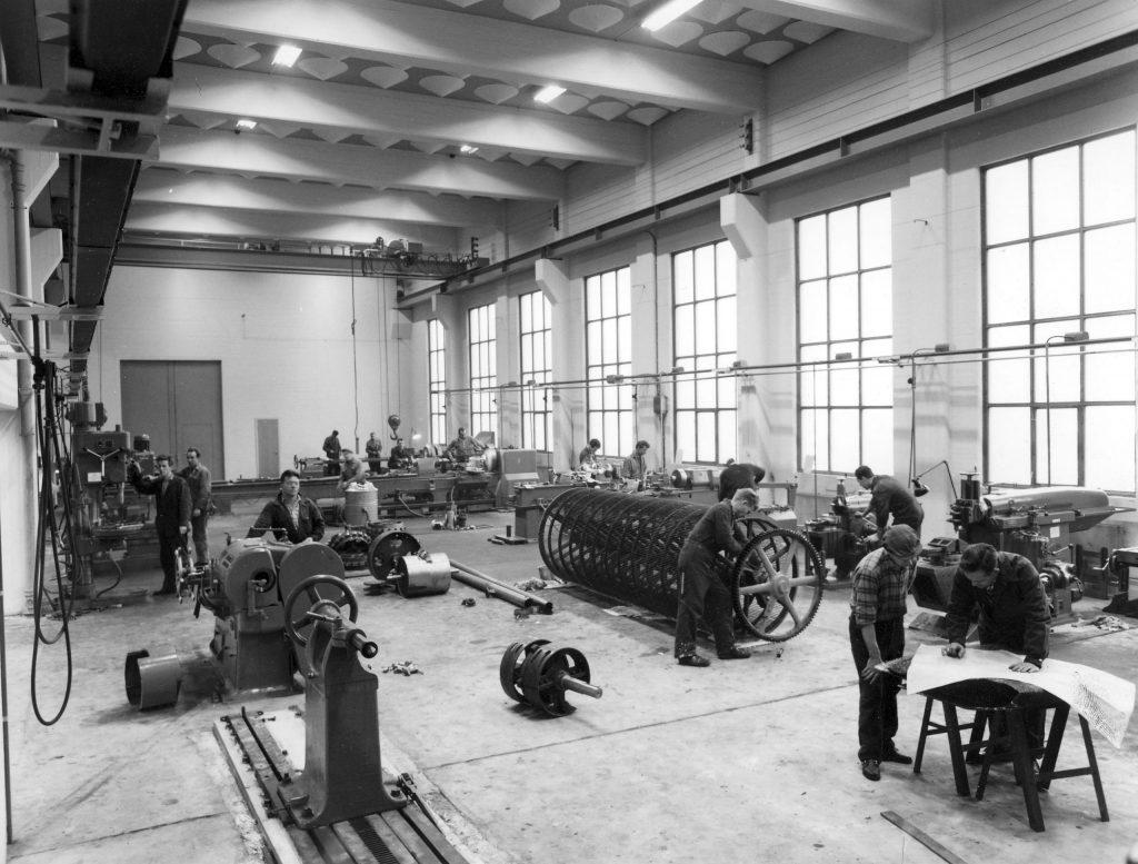 Kunnskapsverksted-mekaniskverksted1960Klosteroya-Næringspark_Bratsberg