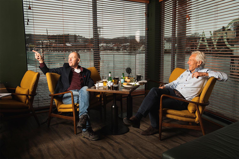Øya motstandere Petter og Lars